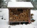 Cottage Winter Firewood, close at hand