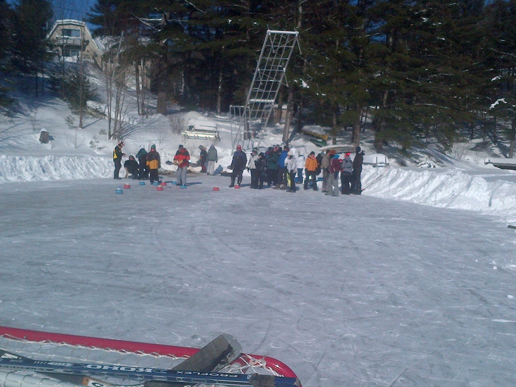 winter bonspiel ice